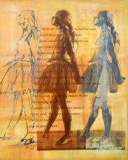 Bailarina Movimento 1, 2003, serigrafia e acrílico sobre tela, 100x80 cm
