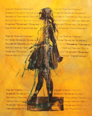 BAILARINA MOVIMENTO 9, Serigrafia e acrílico sobre tela, 100x80 cm