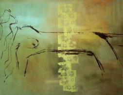 LATITUDE 4 , 2010, serigrafia e acrílico sobre tela, 80x100 cm