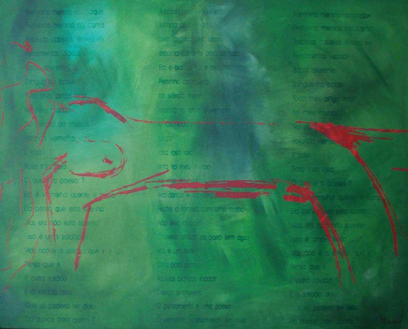 Latitude no Verde, 2010, serigrafia e acrílico sobre tela, 80x100cm