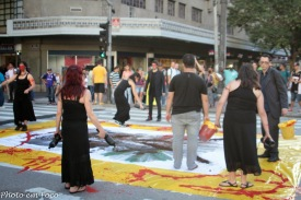 Intervenção Urbana Índio Brasileiro realizada dia 19 de abril de 2014 no centro da cidade de São Paulo. Foto: Rodrigo de Jesus
