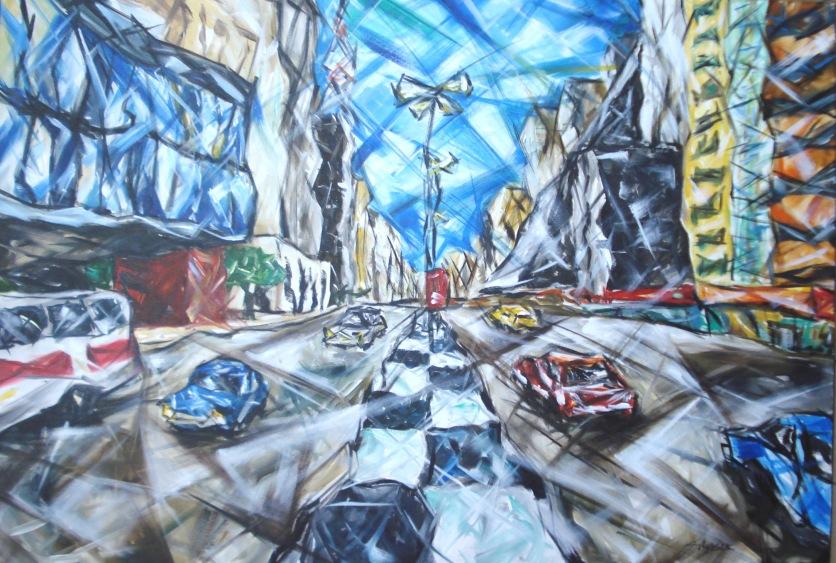 Av Paulista, 2009, acrílico sobre tela, 70x100 cm R$ 3.000,00
