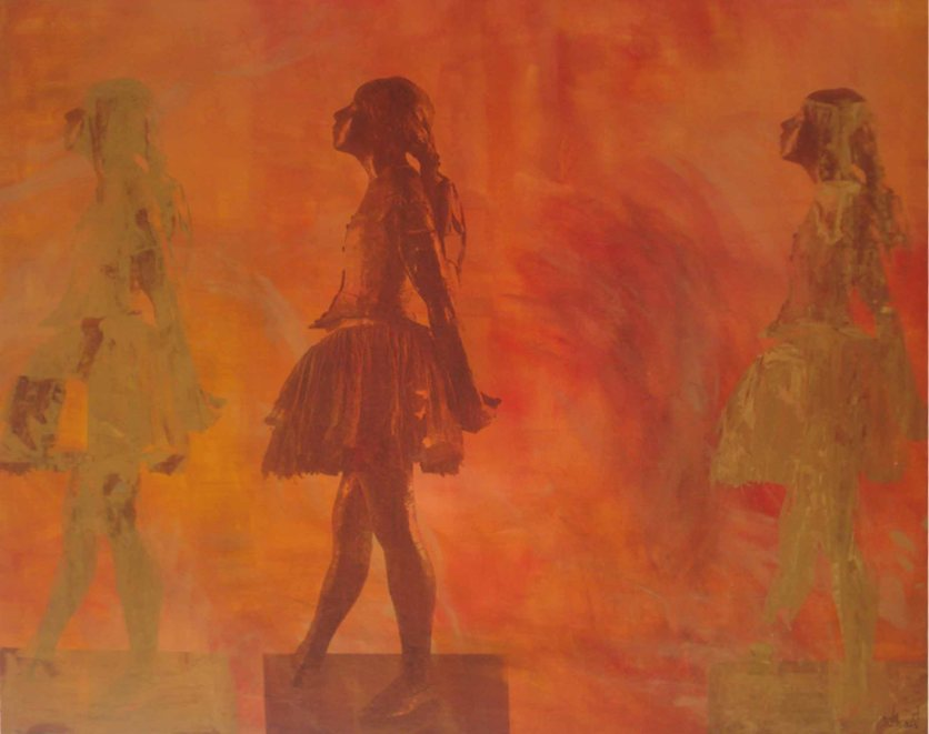 Bailarina Movimento 26, 2014 , Serigrafia e acrílico sobre tela, 100x120 cm R$ 4.200,00