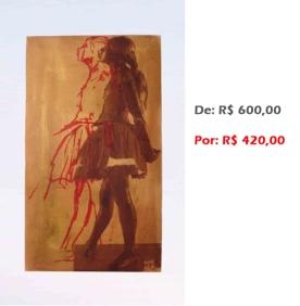 Bailarina Movimento 1, 2, 3... (26), 2014, serigrafia e acrílico sobre tela, 68x43 cm