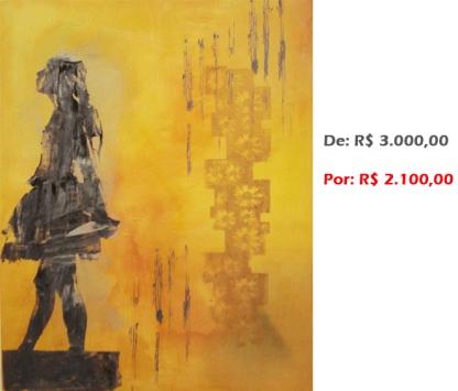 Bailarina Movimento 18, 2010, Serigrafia e acrílico sobre tela, 100x80 cm