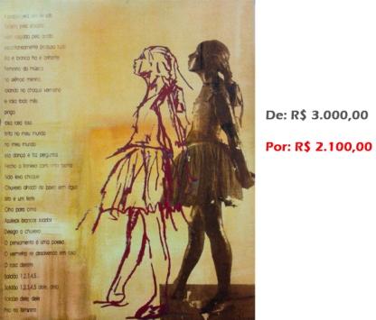 BAILARINA MOVIMENTO..., 2008, serigrafia e acrílico sobre tela, 100x80 cm
