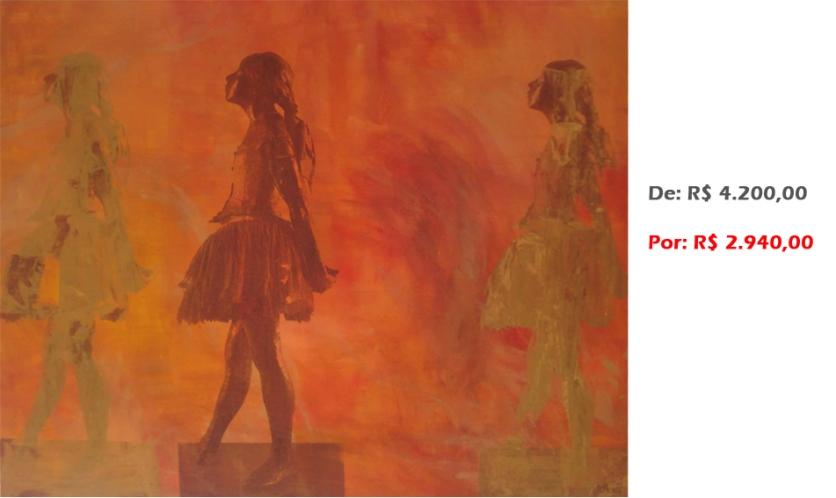 Bailarina Movimento 26, 2014 , Serigrafia e acrílico sobre tela, 100x120 cm