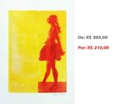 Gravura - Bailarina 11, 2015, serigrafia e acrílico sobre papel, 42x30 cm
