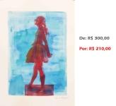 Gravura - Bailarina 12, 2015, serigrafia e acrílico sobre papel, 42x30 cm