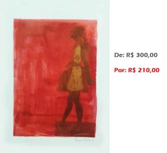 Gravura - Bailarina 13, 2015, serigrafia e acrílico sobre papel, 42x30 cm