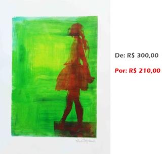 Gravura - Bailarina 14, 2015, serigrafia e acrílico sobre papel, 42x30 cm