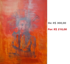 Gravura - Índio 6, 2014, acr e serig s papel, 42x30 cm
