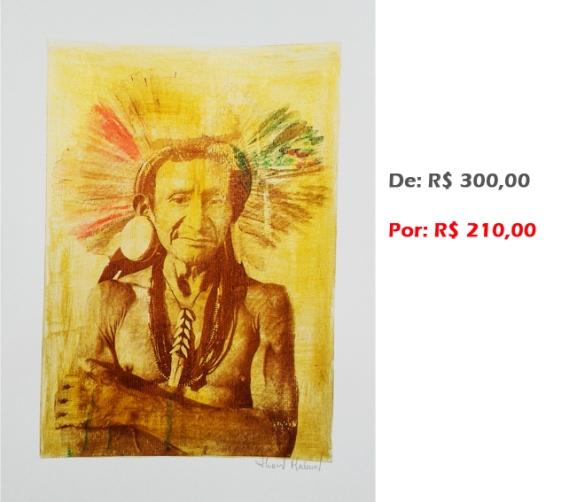 Gravura - Índio 8, 2015, acr e serig s papel, 42x30 cm