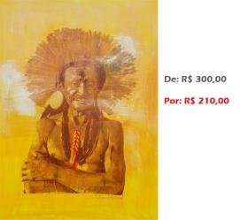 Gravura - Índio 5, 2014, acr e serig s papel, 42x30 cm