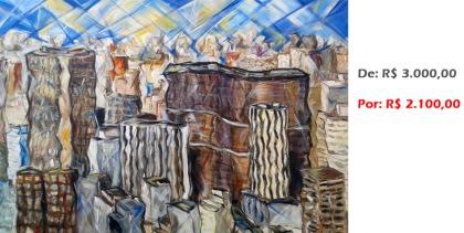 Paisagem Central, 2015, acrílico sobre tela, 80x120 cm