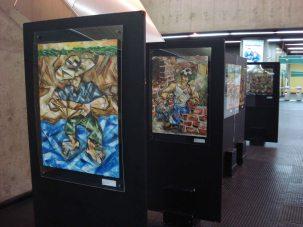 Homens e Mulheres Trabalhando, Ulysses Sanchez, Metrô estação Vila Madalena, São Paulo, 2011
