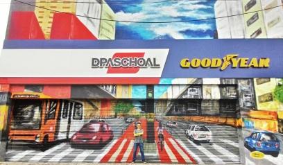 Pintura da arte vencedora do concurso de graffiti da DPaschoal