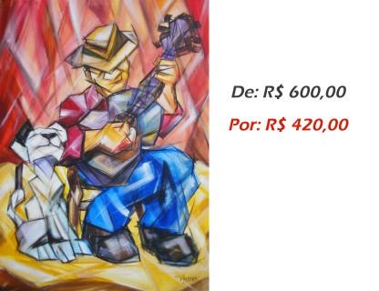 Tocador de Blues 2, 2014, acrílico sobre tela, 70x50 cm